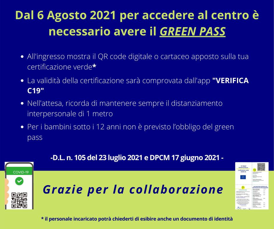 FB Post cartello green pass - verticale